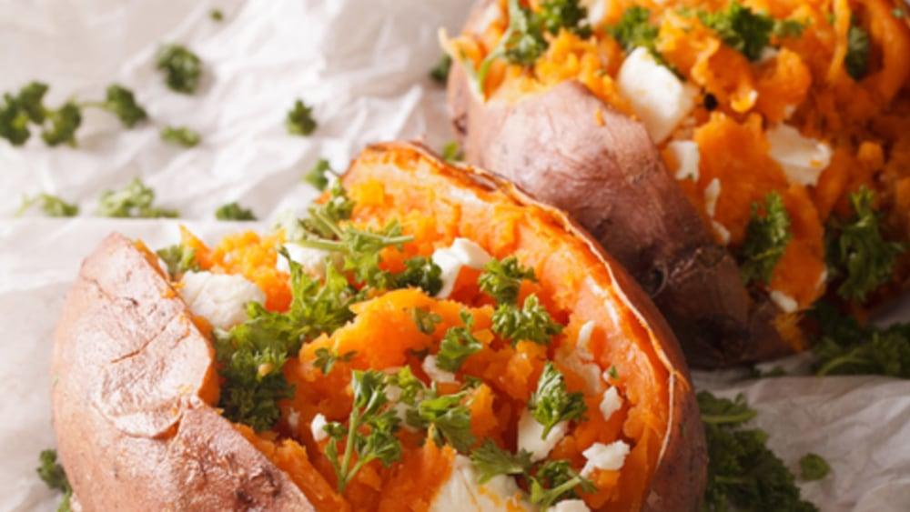 Image of MEXI LOADED BAKED SWEET POTATOES