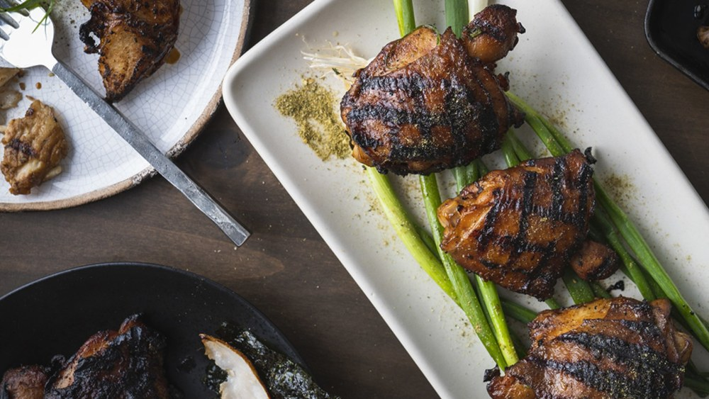 Image of Honey Jalapeño Grilled Chicken Thighs