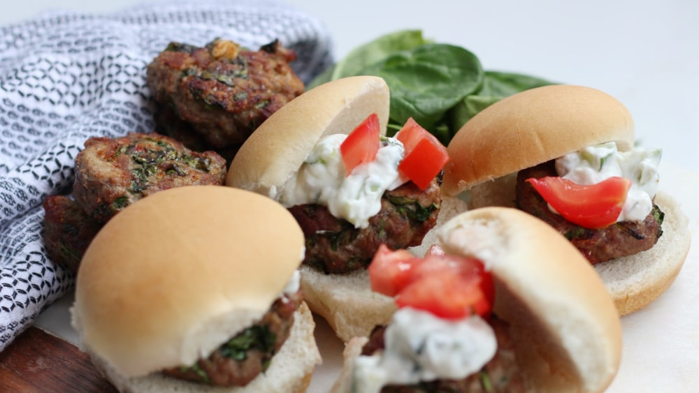 Image of Feta and Spinach Sliders