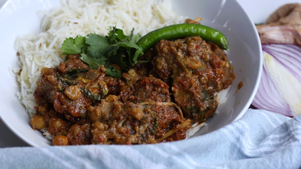 Image of Chana and Meat Curry
