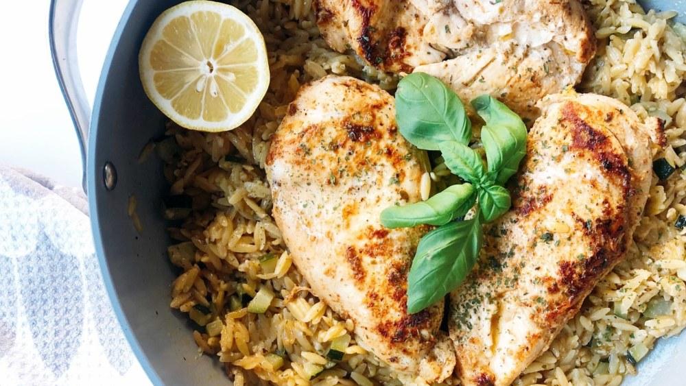 Image ofOne Pot Greek Chicken & Zucchini Orzo