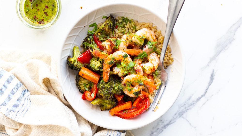 Image of Low FODMAP Cilantro Shrimp Rice Bowl