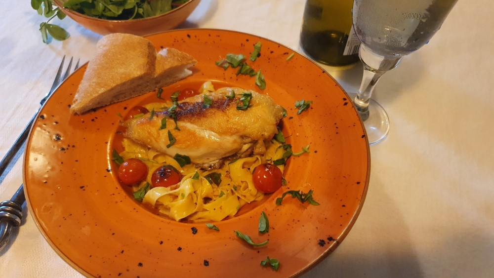 Image of Basil Cream Chicken with Pasta