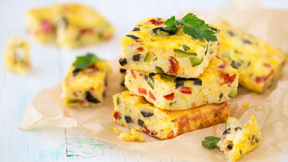 Image of Vegan Frittata Recipe With Tofu Base and Loaded With Vegetables!