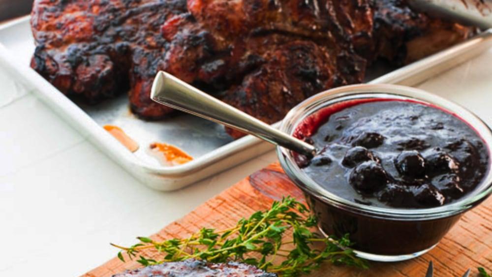 Image ofBourbon Blueberry BBQ Pork Chops Recipe | Elijah's Xtreme