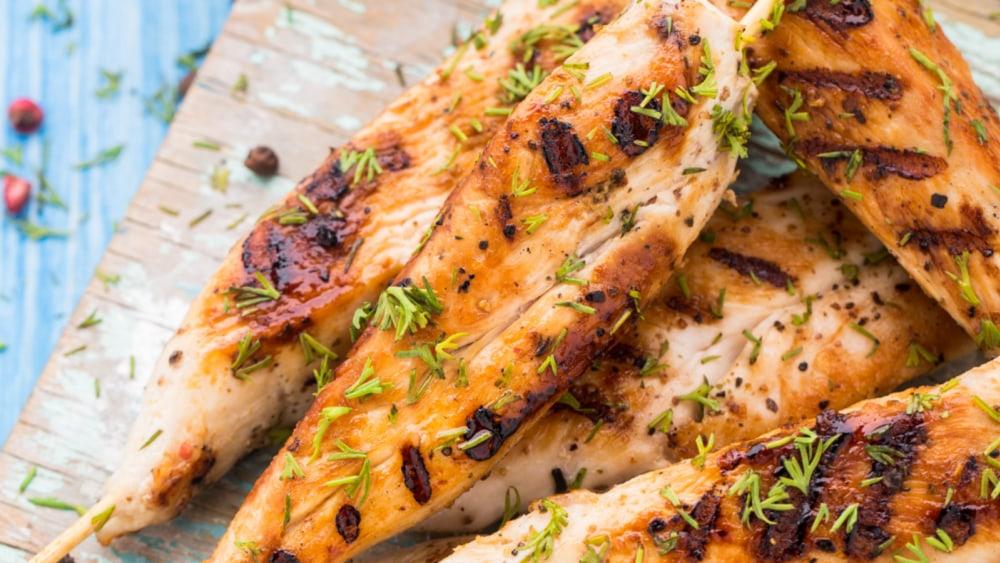 Image of Lemon Marinated Chicken Skewers
