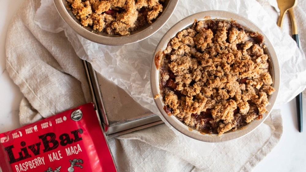 Image of Gluten Free Mini Rhubarb Raspberry Crisp