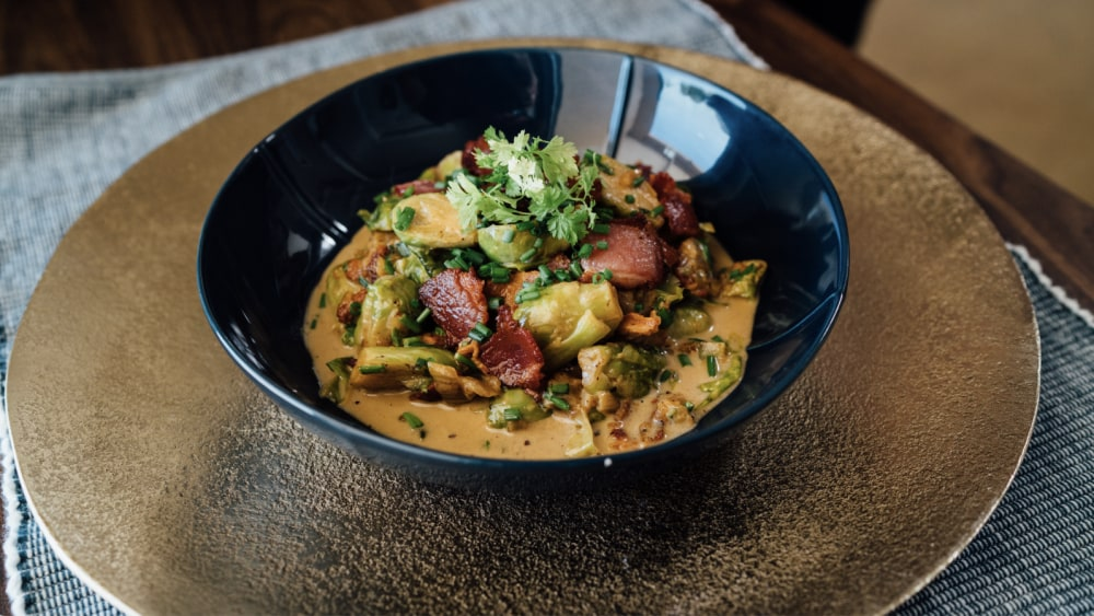 Image of Creamy Bacon Brussel Sprouts