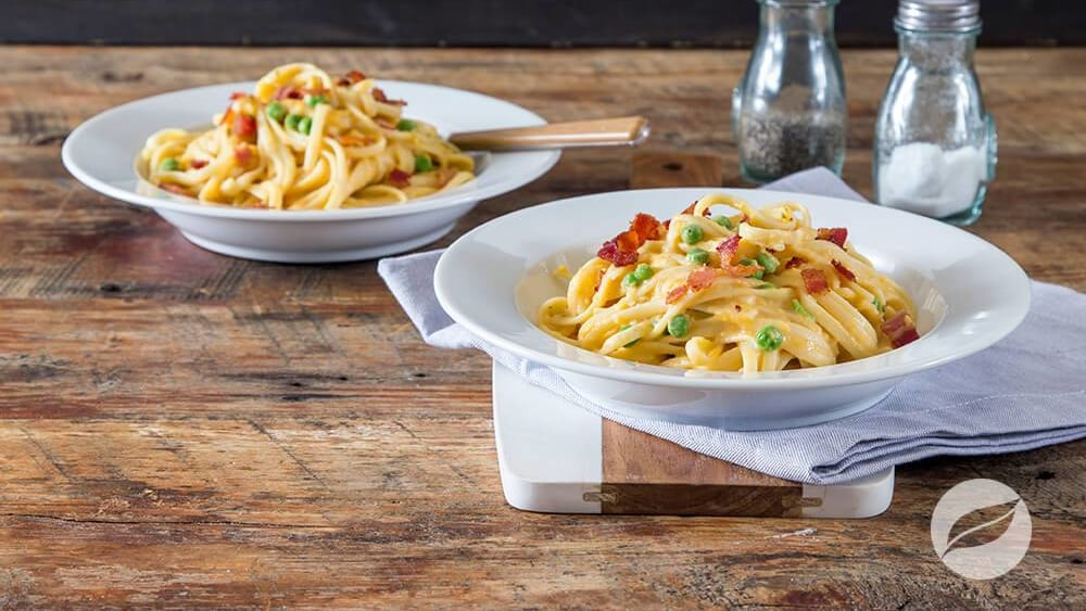 Image of Creamy Pasta with Bacon & Peas