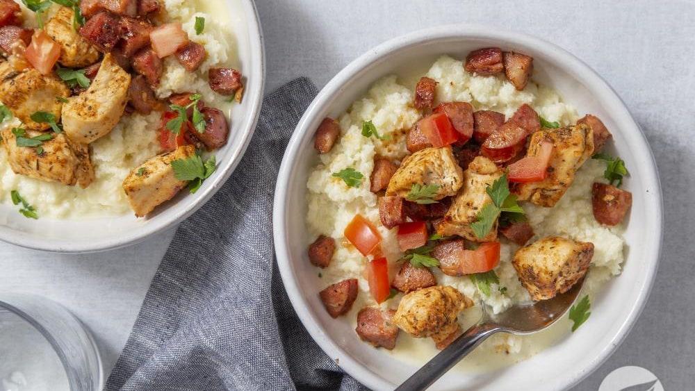 Image of Cajun Chicken & Cauliflower Grits