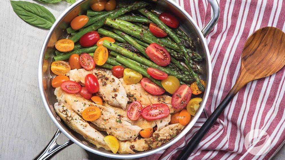 Image of One-pan Pesto Chicken & Veggies