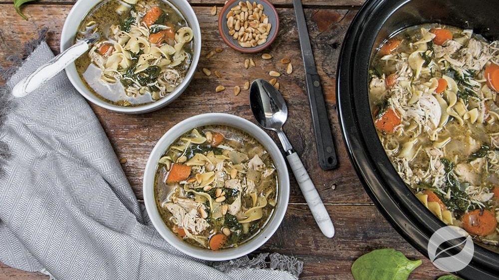 Image of Pesto Chicken Noodle Soup