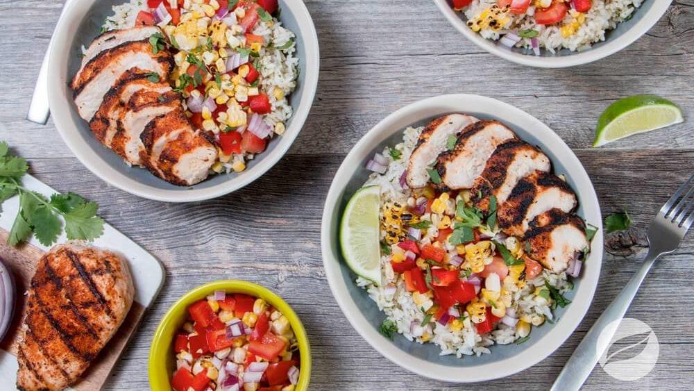 Image of Carne Asada Grilled Chicken Bowls