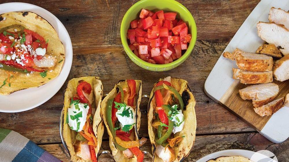 Image of Carne Asada Chicken Tacos