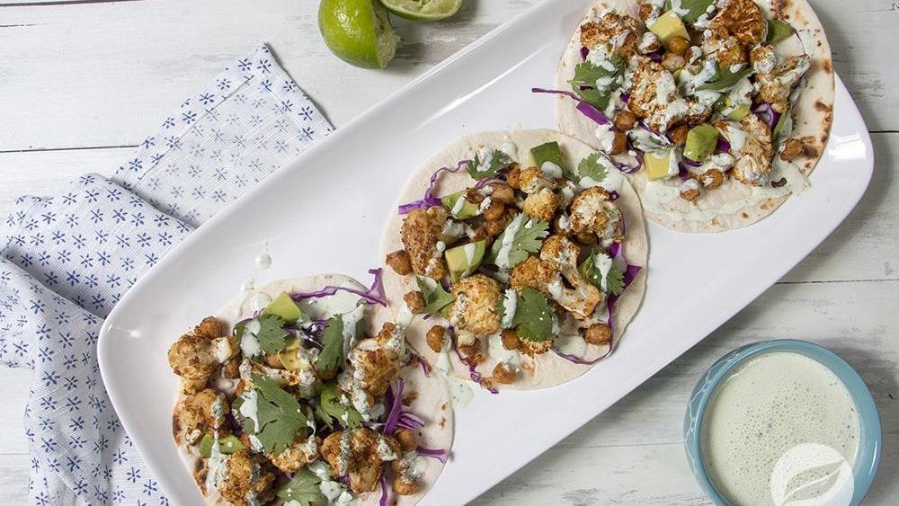 Image of Cauliflower & Chickpea Tacos