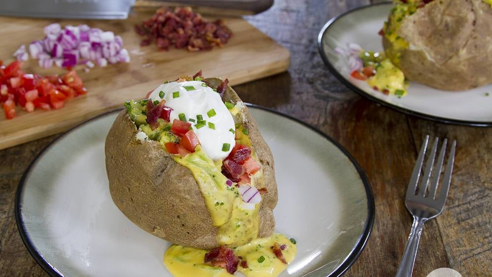 Image of Broccoli Cheddar Loaded Baked Potatoes