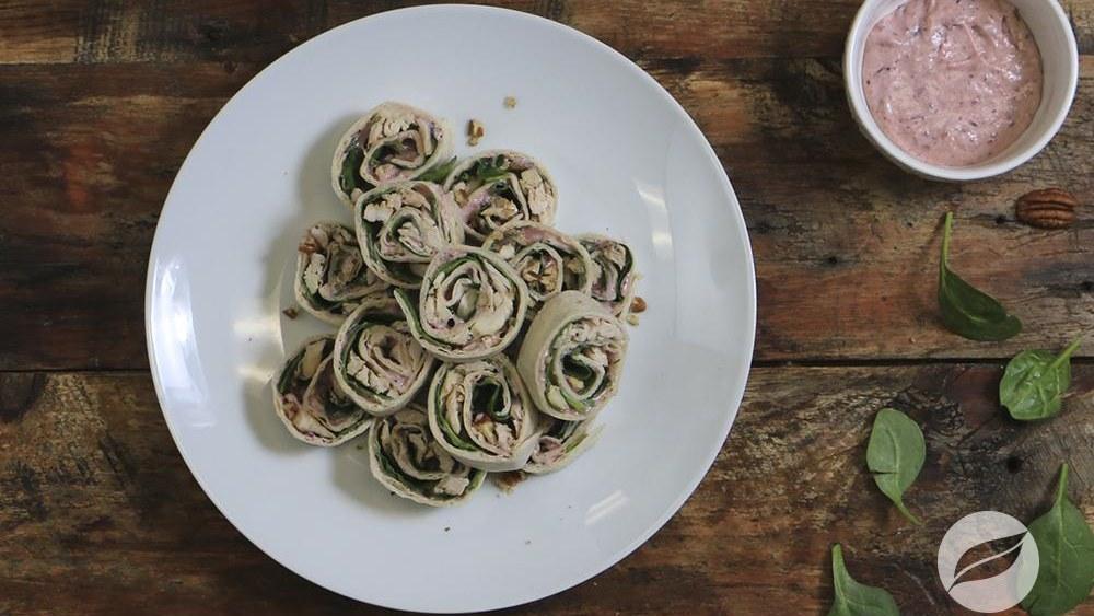 Image of Cranberry Turkey Pinwheels