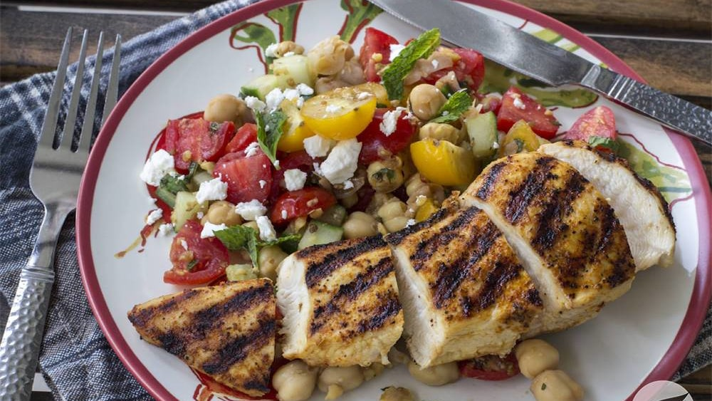 Image of Grilled Rodeo Chicken with Summer Salad