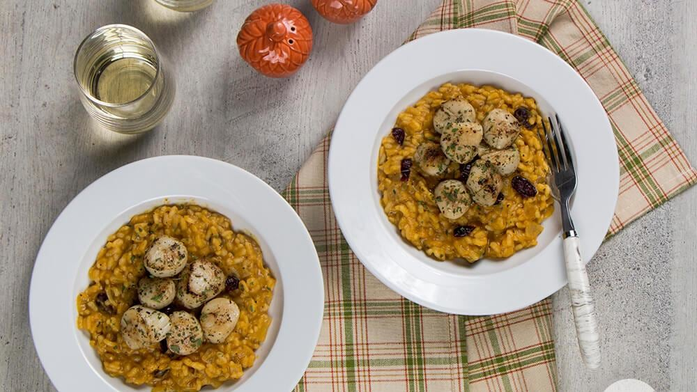 Image of Scallops with Pumpkin Risotto
