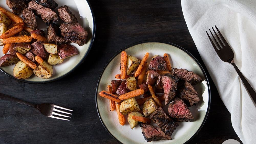 Image of Rosemary Garlic Steak Tip with Roasted Vegetables