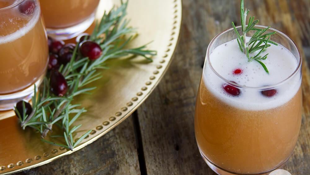 Image of Spiced Cranberry Mimosas
