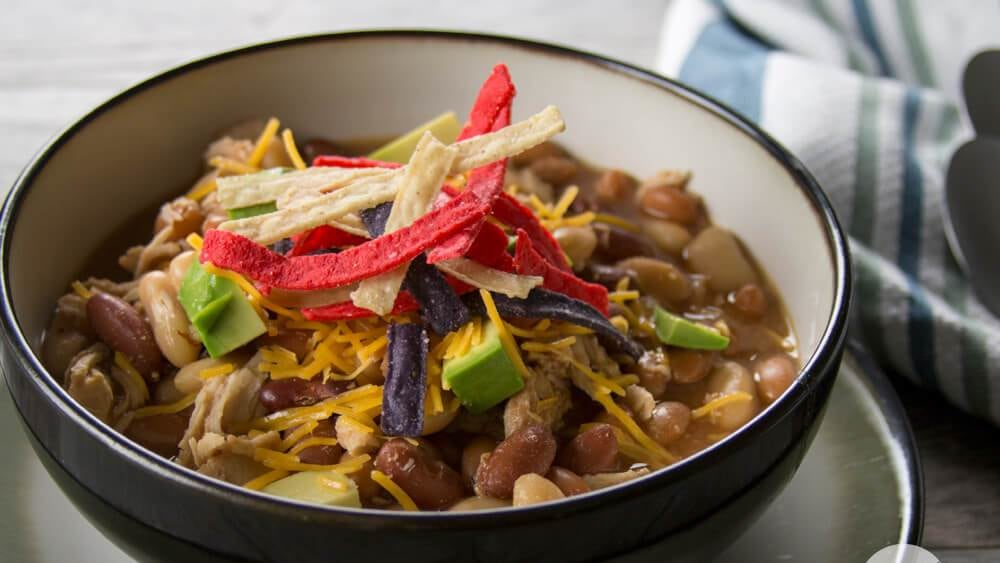 Image of Slow Cooker BBQ Chicken Chili