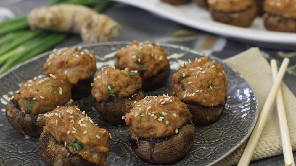 Image of Teriyaki Chicken Stuffed Mushrooms