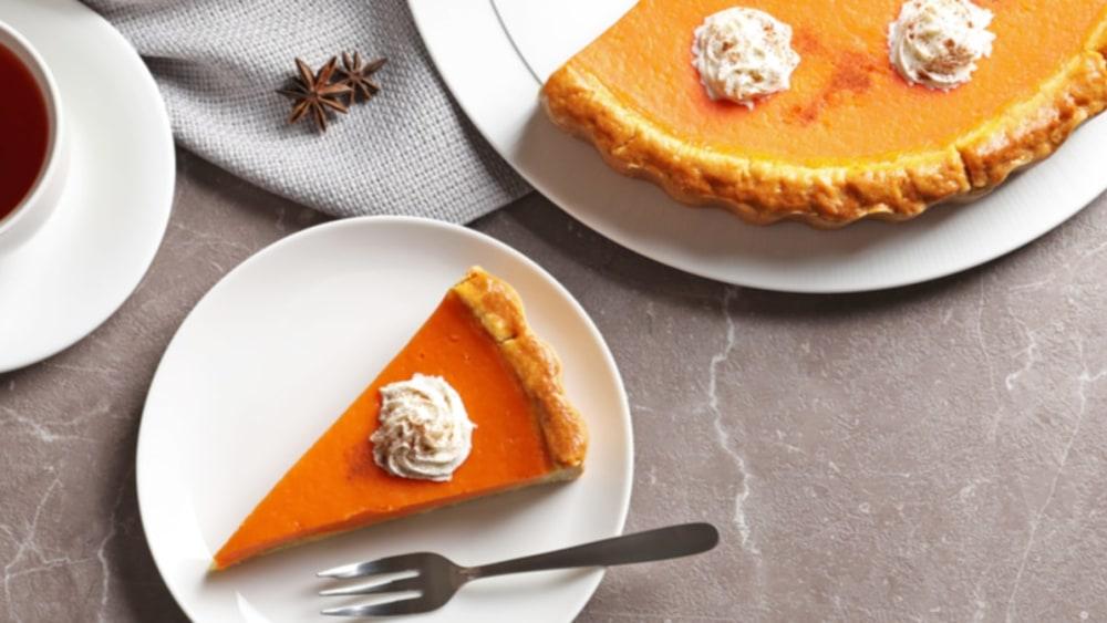 Image of Homemade Plant-Based Pumpkin Pie
