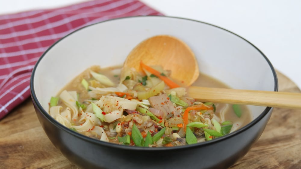Image of Vegan Kimchi Noodle Soup