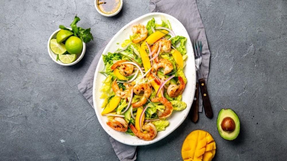 Image of Avocado Mango Salad with Shrimp