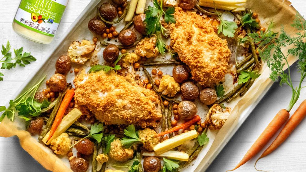 Image of Parmesan Chicken & Vegetables Sheet Pan Dinner