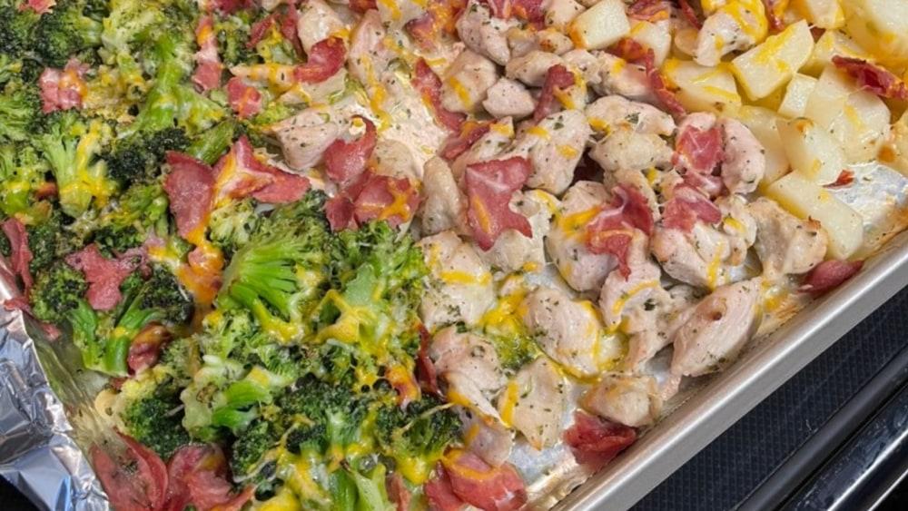 Image ofChicken Bacon Ranch Sheet Pan Bake Recipe | Elijah's Xtreme