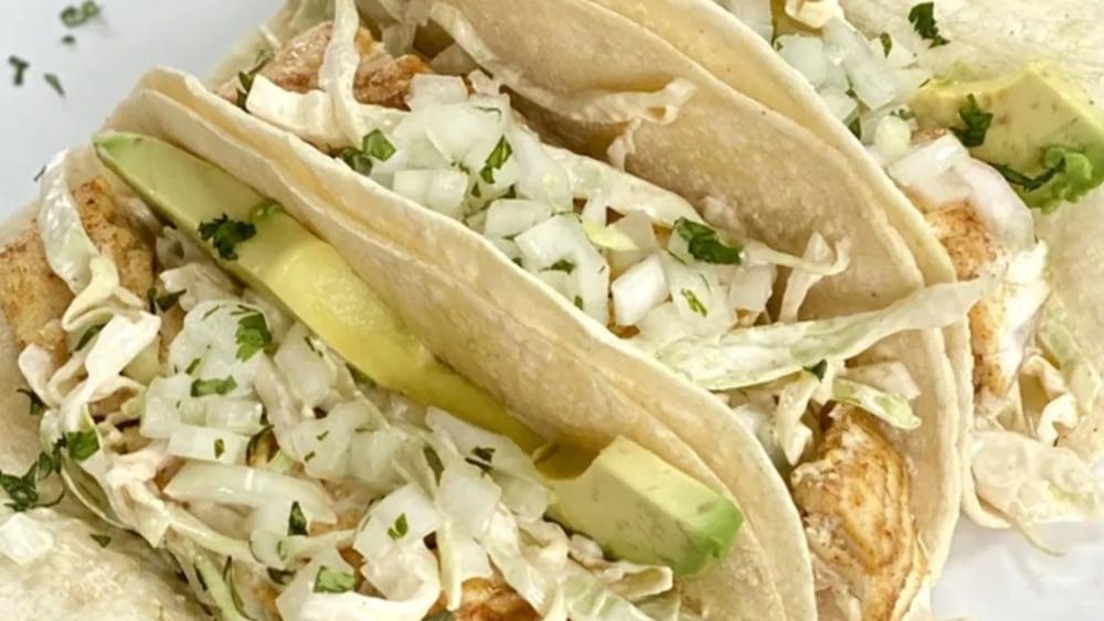 Image of Sheet Pan Halibut Tacos