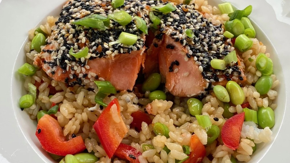 Image of Premier Catch Sesame-Crusted Salmon Bowl