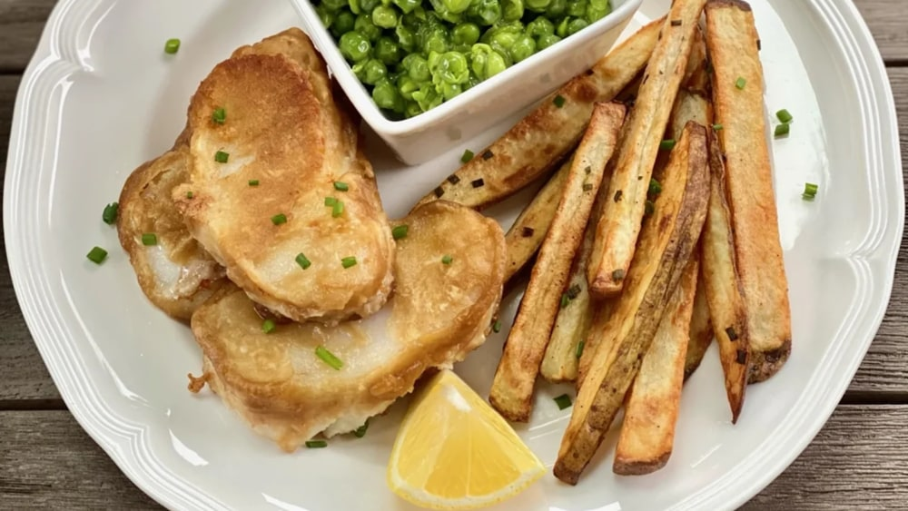 Image of Alaska Cod Fish 'N' Chips (& Mushy Peas)
