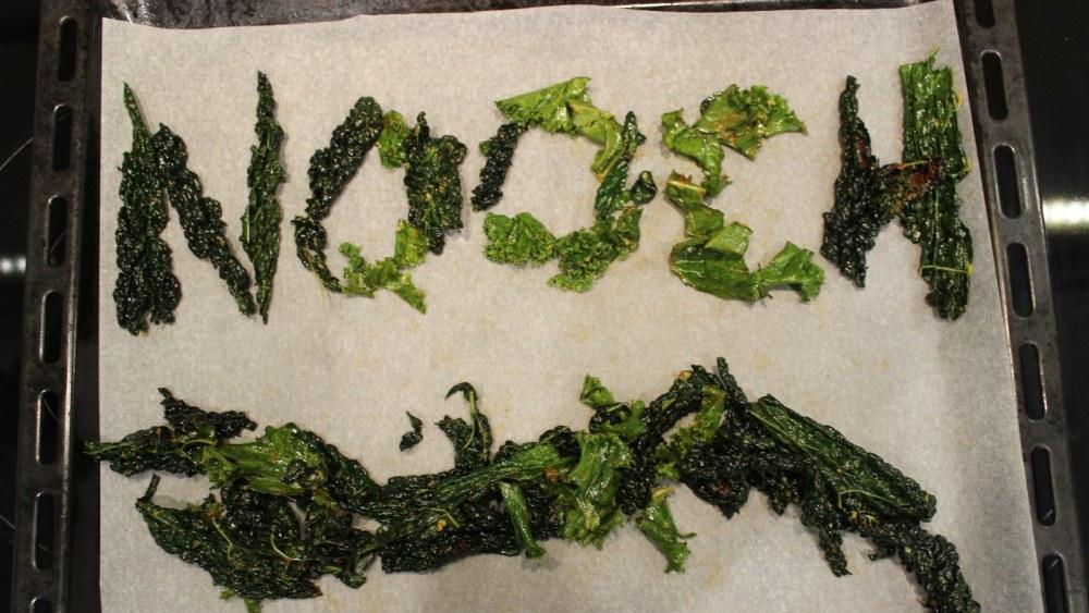 Image of Oven Kale Chips & Nooch