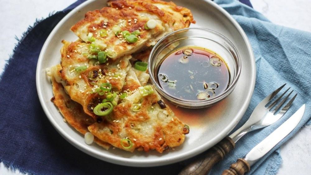 Image of Crispy Spring Onion Pancakes