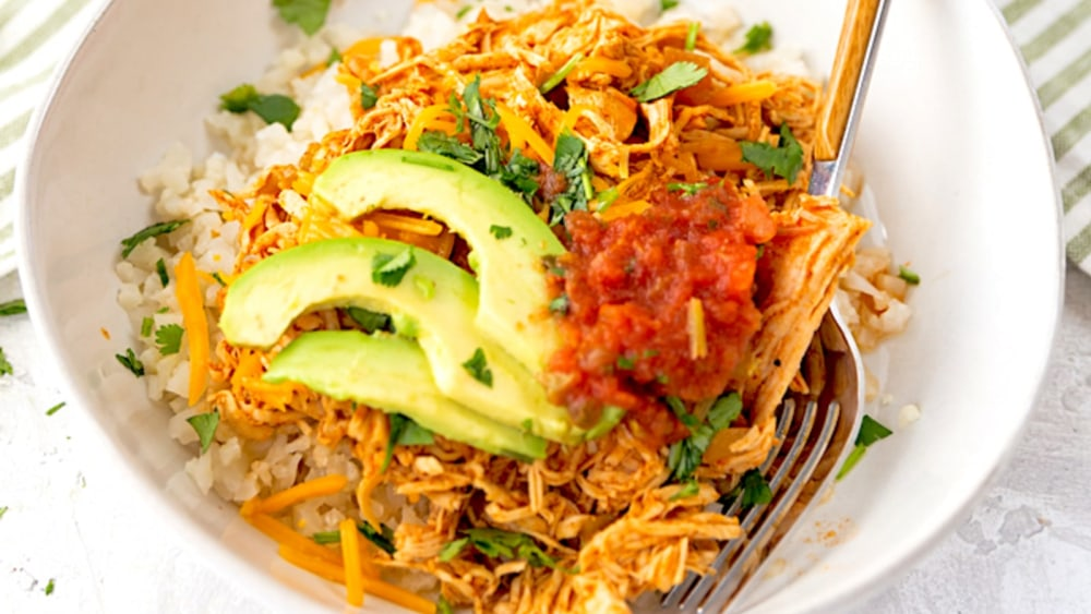 Image ofKeto Chicken Enchilada Bowl Recipe   Elijah's Xtreme