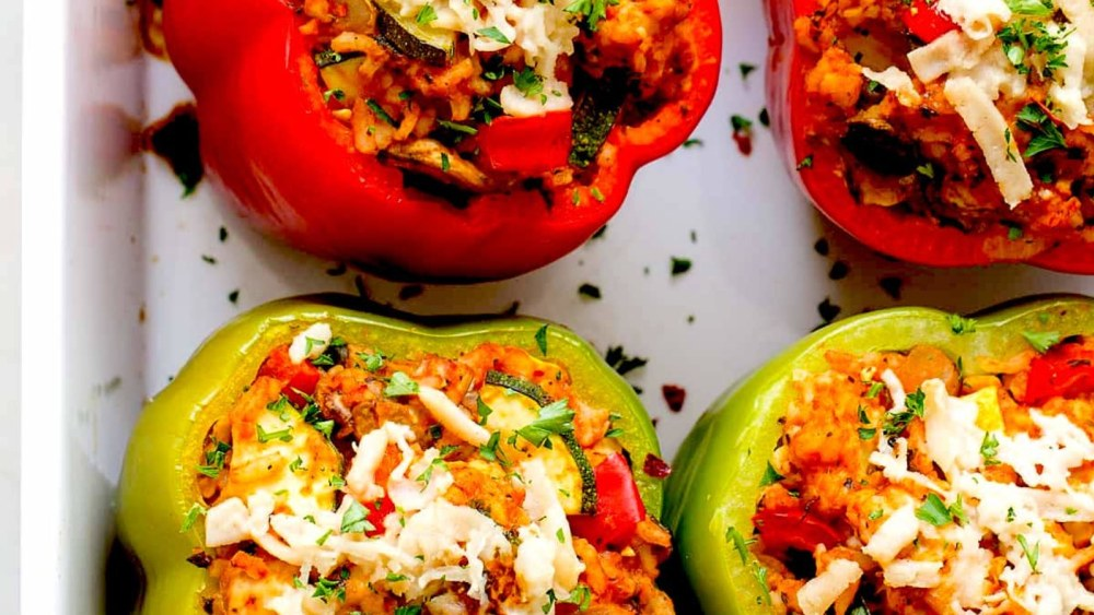 Image ofSpicy Vegetarian Stuffed Peppers Recipe   Elijah's Xtreme