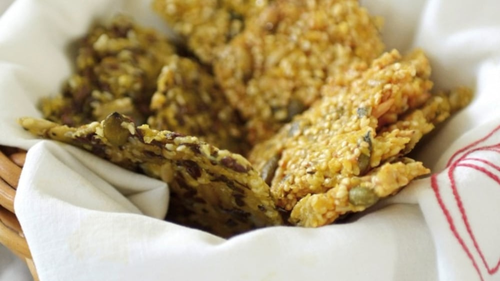 Image of Quinoa and mixed seed crackers
