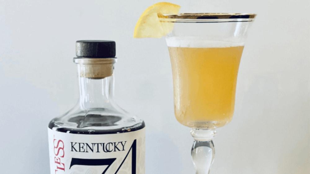 Image of Spiritless Kentucky 74 Non-Alcoholic Bourbon Maple Leaf Cocktail Recipe