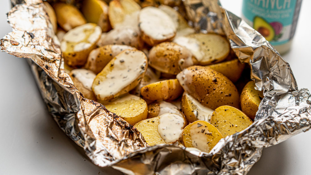 Image of 2-Ingredient Grilled Potatoes in Foil