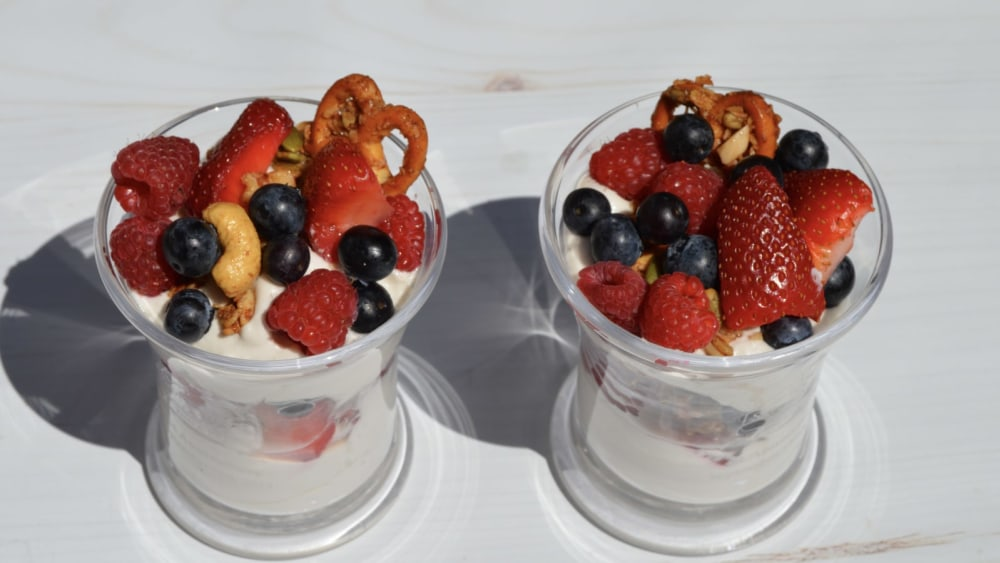 Image of Red White and Blue Berry Parfait