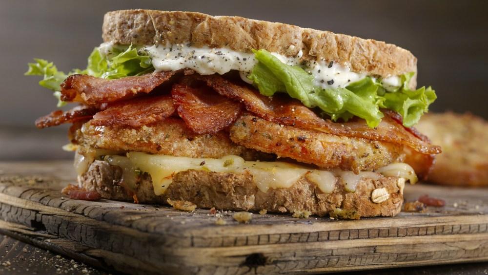 Image of Fried Tomato  BLT Sandwich