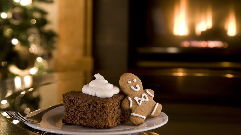 Image of Ginger Bread with Maple Syrup Whipped Cream