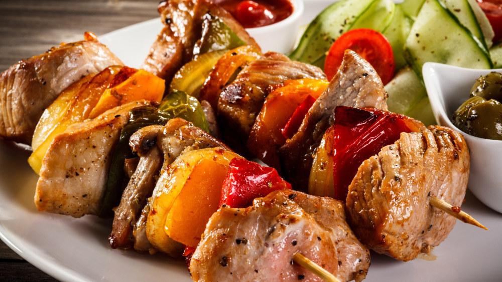 Image of Garlic Herb Chicken Kebabs