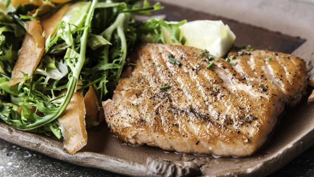 Image of Grilled Salmon with Mayonnaise Nicoise