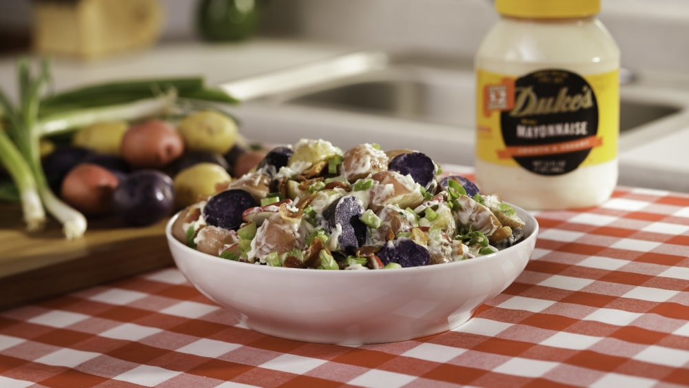 Image of Jason Alley's Red,White, and Blue Potato Salad
