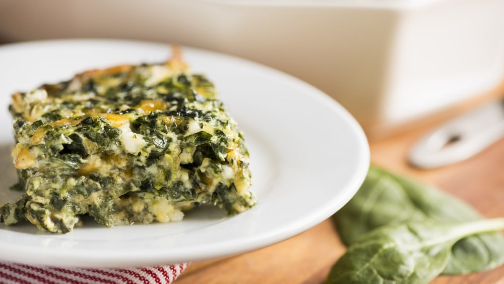 Image of Spinach and  Cheese Casserole