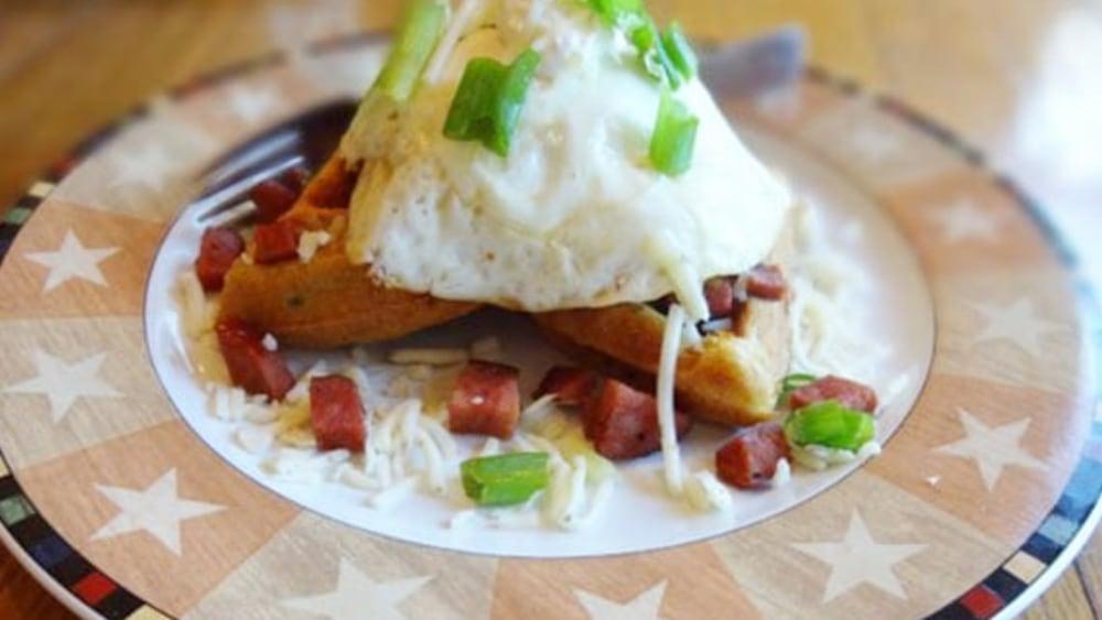 Image of Williams Jalapeno Waffle Stack with Chorizo and Pepper Jack